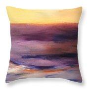 Brushed 6 - Vertical Sunset Throw Pillow