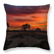 Brushstrokes In The Sky Throw Pillow