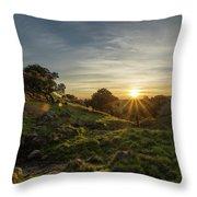 Brushy Peak Sunset Throw Pillow