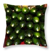 Brussel Sprouts , Cucumbers And Carrots Throw Pillow