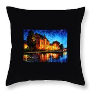 Brussels - Castle Saventem Throw Pillow