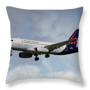 Brussels Airlines Sukhoi Superjet 100-95b Throw Pillow
