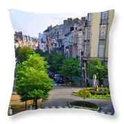 Brussels Row Throw Pillow