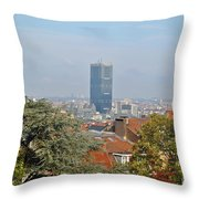 Brussels View Throw Pillow