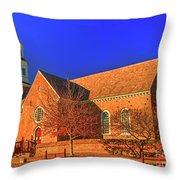 Bruton Parish Church In The Warm Autumn Afternoon Sunlight 6477tmt Throw Pillow
