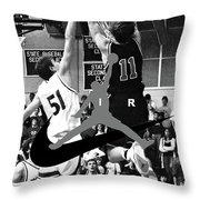 Bryan Nelson Goes Michael Air Jordan, A Shawnee Mission East High School Legend Throw Pillow