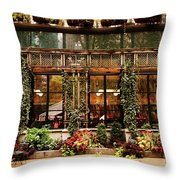 Bryant Park Grill Throw Pillow