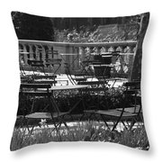 Bryant Park In Black And White Throw Pillow