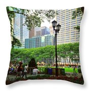 Bryant Park Throw Pillow