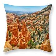 Bryce Canyon Fairyland Vista Throw Pillow