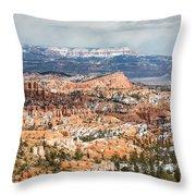 Bryce Canyon Looking Towards Aquarius Plateau   Throw Pillow