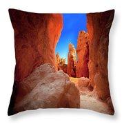 Bryce Canyon Narrows Throw Pillow