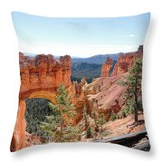 Bryce Canyon Natural Bridge - Utah Throw Pillow