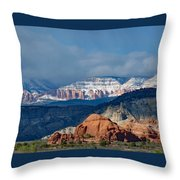 Bryce Canyon Snowstorm Throw Pillow