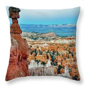 Bryce Canyon Thors Hammer Throw Pillow