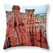 Bryce Canyon Thors Hammer Portrait Throw Pillow