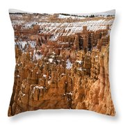 Bryce Canyon Winter Panorama - Bryce Canyon National Park - Utah Throw Pillow