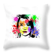 Bryce Dallas Howard Pop Art Throw Pillow