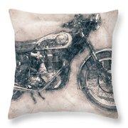 Bsa Gold Star - 1938 - Motorcycle Poster - Automotive Art Throw Pillow