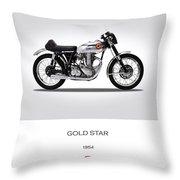 Bsa Gold Star 1954 Throw Pillow