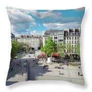 Georges Pompidou Square Throw Pillow