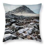 Buachaillie Etive Mor, Glencoe, Scotland Throw Pillow
