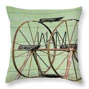 Bubbas  Fairs Wheel Throw Pillow