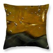 Bubble 03 Throw Pillow by Grebo Gray