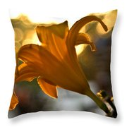 Bubble Blowing Flower Throw Pillow