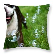 Bubble Busting Throw Pillow