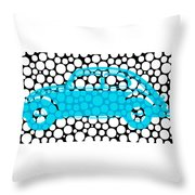Bubble Car Vw Beetle Throw Pillow