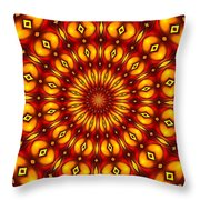 Bubble Clock Throw Pillow