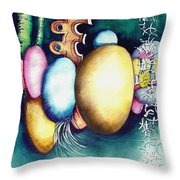 Bubble Frog Throw Pillow