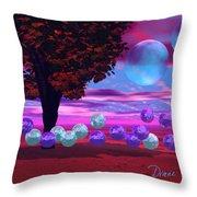 Bubble Garden Throw Pillow