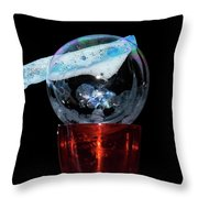 Bubble In A Glass Throw Pillow