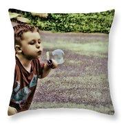 Bubble Liscious Throw Pillow