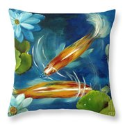 Bubble Maker Throw Pillow by Carol Sweetwood