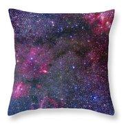 Bubble Nebula And Cave Nebula Mosaic Throw Pillow