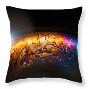 Bubble Planet I  Throw Pillow
