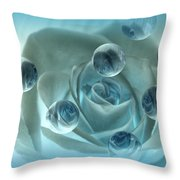 Bubble Rose Throw Pillow