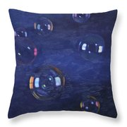 Bubble Study 02 Throw Pillow