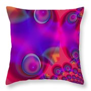 Bubble Trails Throw Pillow