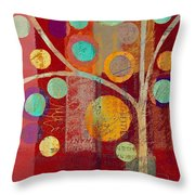 Bubble Tree - 85lc13-j678888 Throw Pillow