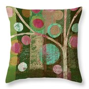 Bubble Tree - 85lc16-j678888 Throw Pillow