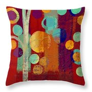 Bubble Tree - 85rc13-j678888 Throw Pillow