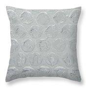 Bubble Wrap Below 32 Throw Pillow