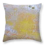 3. Bubble Yellow And White Glaze Painting Throw Pillow