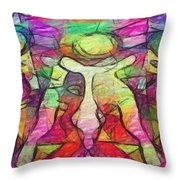 Bubbleclubtoo Throw Pillow
