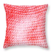 Bubblegum Knit Throw Pillow