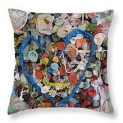 Bubblegum Love Throw Pillow